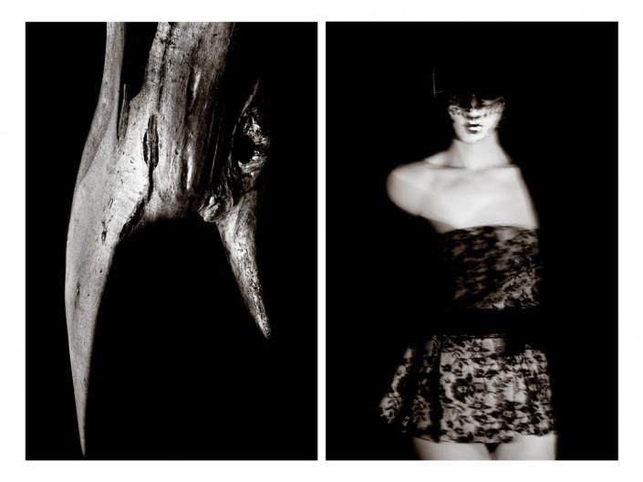 femme écorce arbre